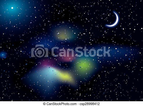 Un paisaje de viaje espacial - csp28998412