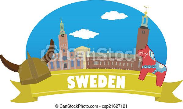 viaje turismo, sweden. - csp21627121