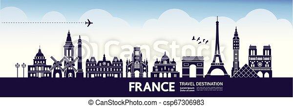 Viaja a Francia vector - csp67306983
