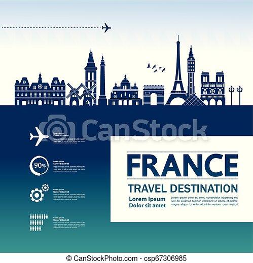 Viaja a Francia vector - csp67306985