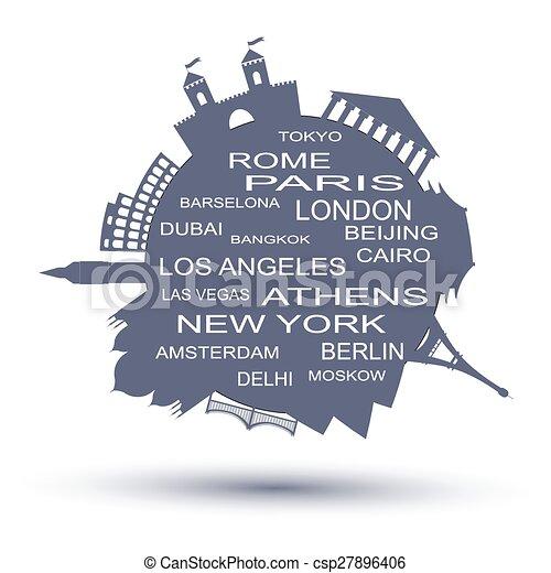Logo de la agencia de viajes. Ilustración de vectores - csp27896406