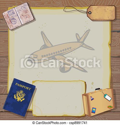 Rustic bon voyage party inv - csp8991741