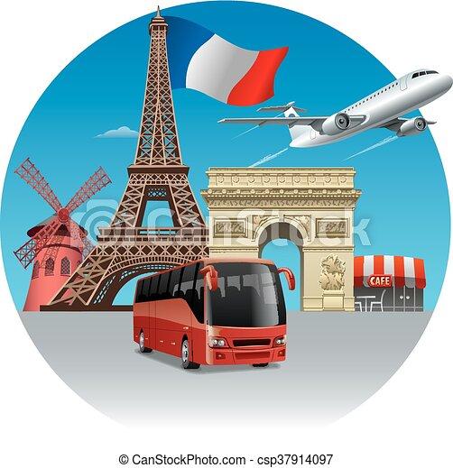 Viajar y recorrer en Francia - csp37914097