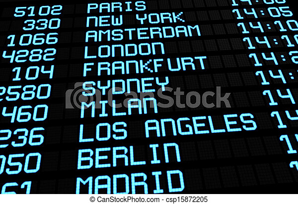 Aeropuerto de viajes internacionales - csp15872205