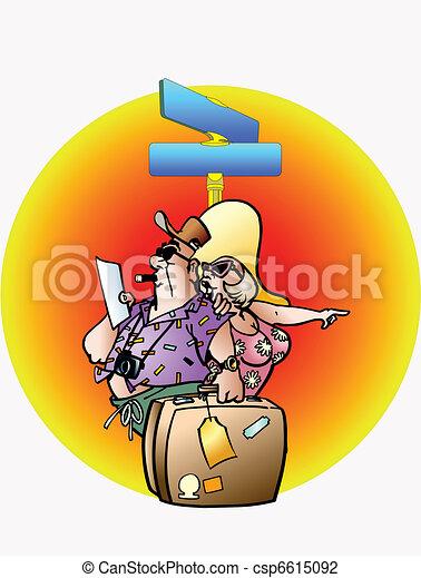 Hombre y mujer van de viaje - csp6615092