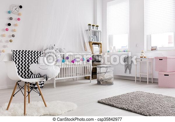 vibe, 赤ん坊, 現代部屋 - csp35842977