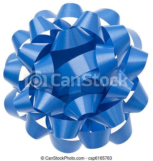 Vibrant Blue Gift Bow - csp6165763