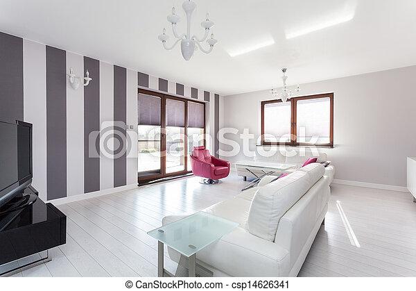 Vibrant cottage - living room - csp14626341