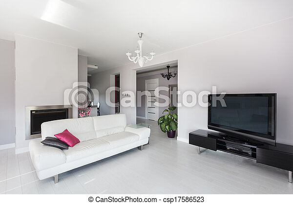 Vibrant cottage - living room - csp17586523