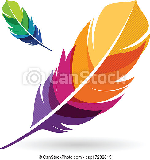 vibrant feathers vibrant colorful feathers vector clip art rh canstockphoto com father clipart father clip art black and white