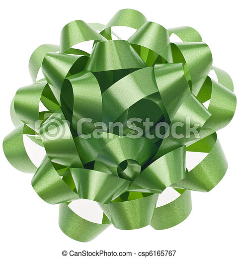 Vibrant Green Gift Bow - csp6165767