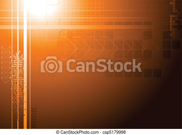 Vibrant hi-tech backdrop - csp5179998