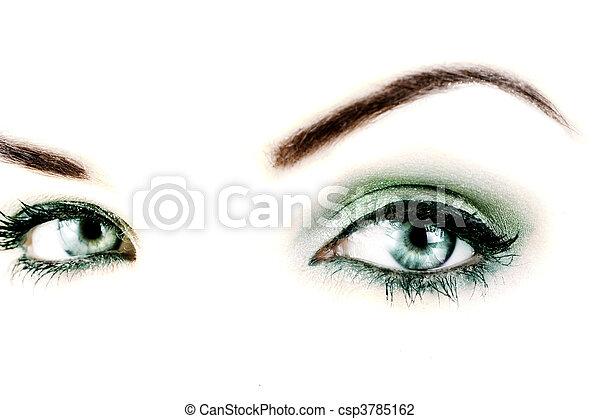 vibrante, olhos - csp3785162