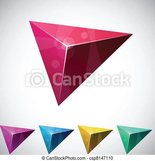Pirámide vibrante triangular. - csp8147110