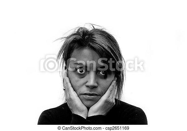 Imágenes de violencia doméstica. - csp2651169