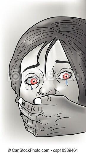 victime, enlever, illustration - csp10339461