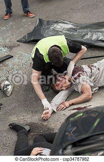 victimes, fracas, voiture - csp34787982