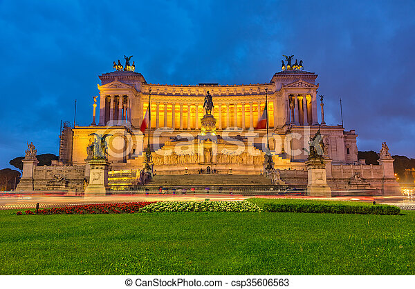 Victor Emmanuel monument in Rome - csp35606563