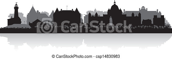 Victoria Canada city skyline vector silhouette  - csp14830983