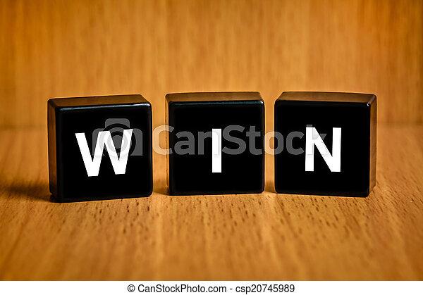 Ganar palabra en el bloque negro - csp20745989