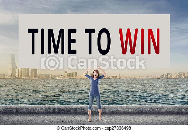 Hora de ganar - csp27336498