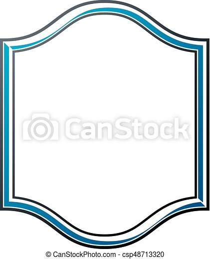 victorian art vector frame with blank copy space vintage heraldic