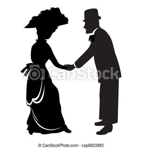 Victorian couple - csp6823983