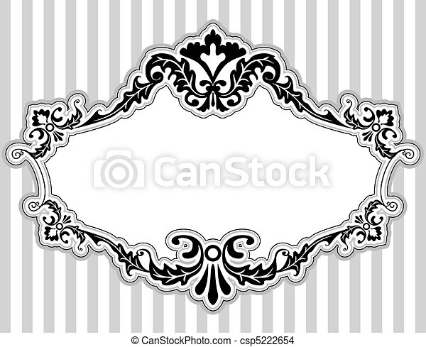 Victorian Frame Illustration Of A With Style
