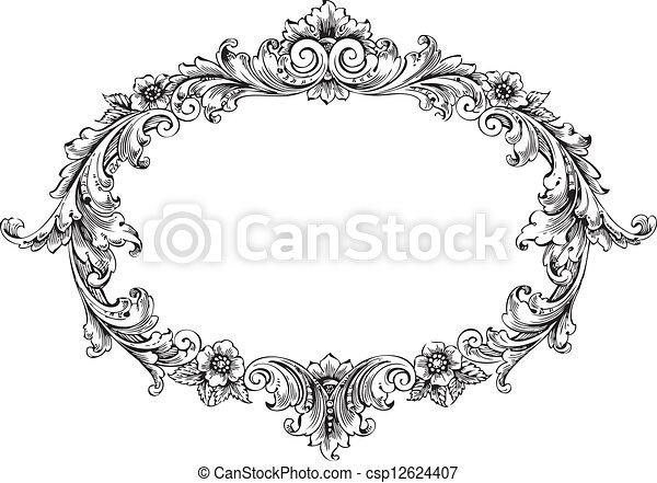 Victorian Frame - csp12624407