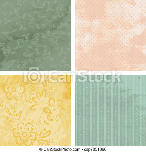Victorian grunge backgrounds - csp7051866