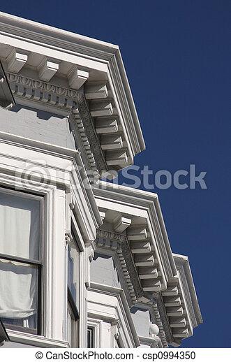 Victorian Home Details - csp0994350