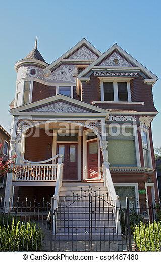 Victorian Home - csp4487480