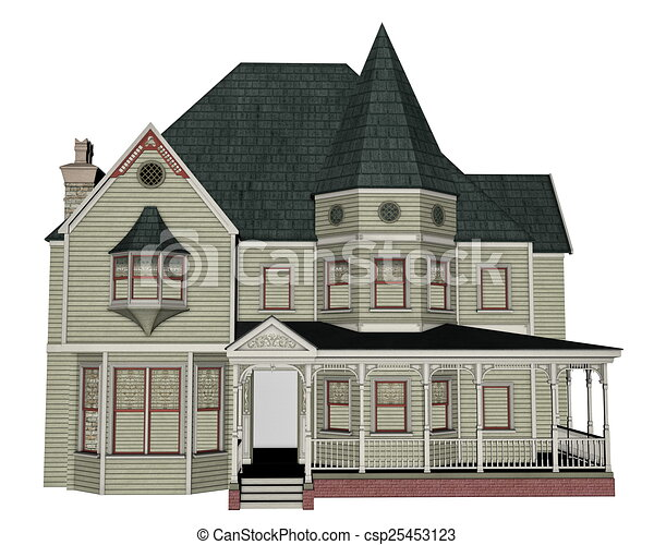 Victorian House   3D Render   Csp25453123