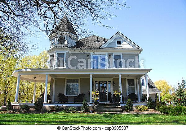 Victorian house - csp0305337