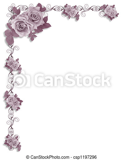 Victorian Roses corner - csp1197296