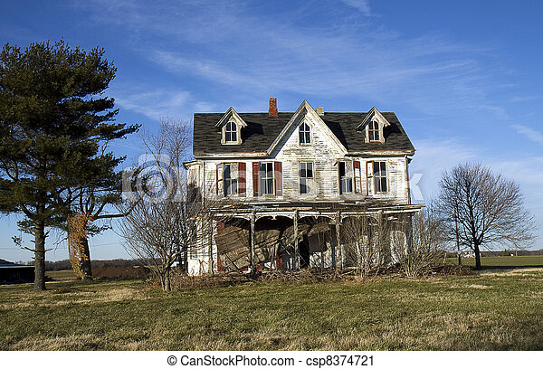 Victorian Ruined House - csp8374721