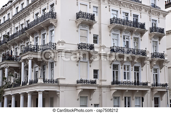 Victorian style building - csp7508212