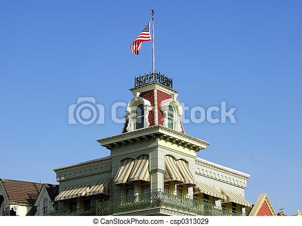 Victorian Style Building - csp0313029