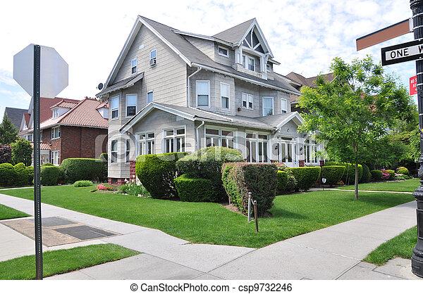 Victorian Style Suburban Home - csp9732246