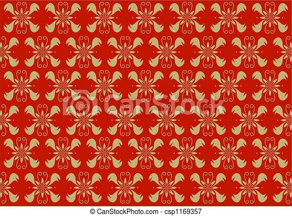 victorian wallpaper - csp1169357