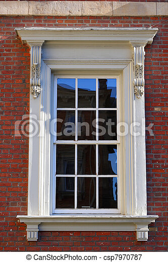 Victorian Window And Frame Architectural Detail