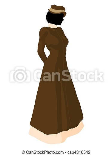 ed62c7b8314 Victorian woman illustration silhouette. Victorian woman art ...