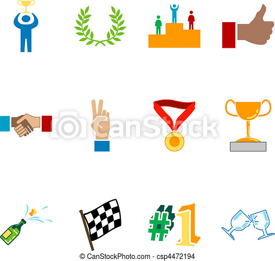 Victory and Success Icon Set Series Design Elements - csp4472194