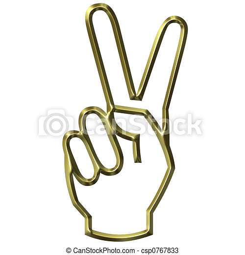 Victory Hand Sign - csp0767833