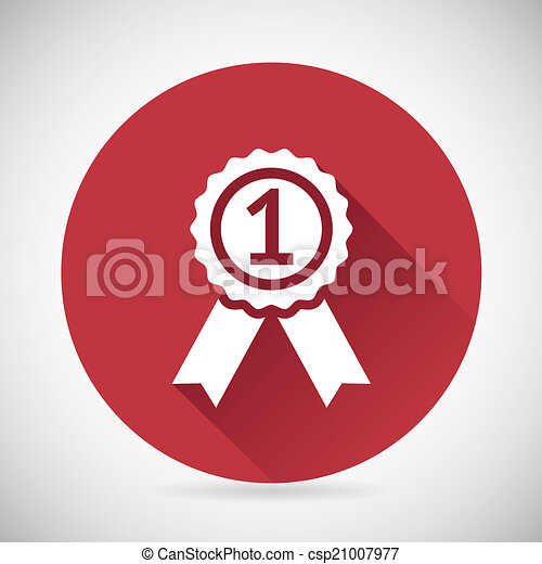 Victory prize award symbol badge with ribbons silhouette icon design victory prize award symbol badge with ribbons silhouette icon design template vector illustration maxwellsz