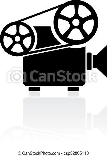 Video Projecteur Signe Projecteur Isole Signe Video Fond Blanc Canstock