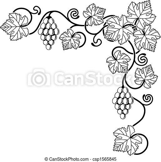 Un elemento de diseño de viñedos - csp1565845