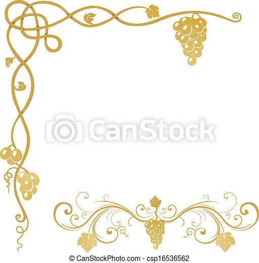 Un adorno de uva - csp16536562