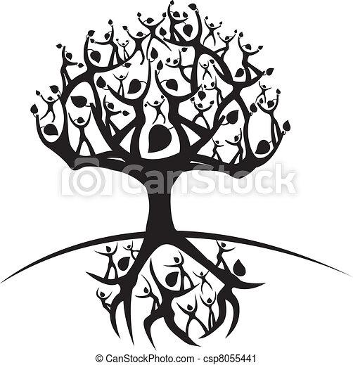 vida, árbol - csp8055441