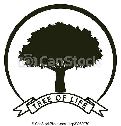 Vida árbol Símbolo Ecología árbol Nature Ilustración